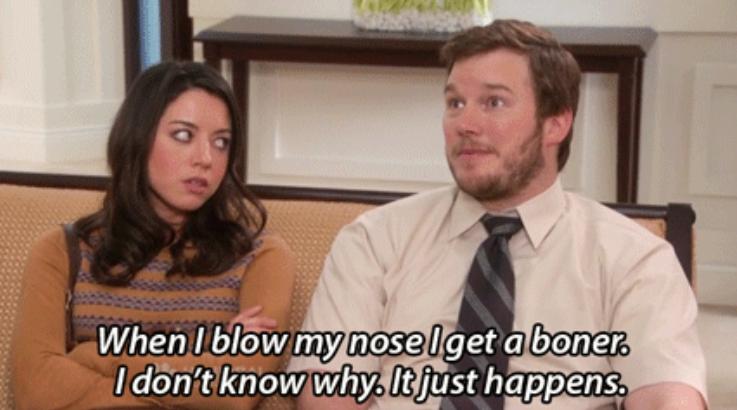 When I blow my nose I get a boner