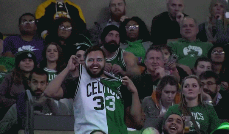 Excited Celtics Fan