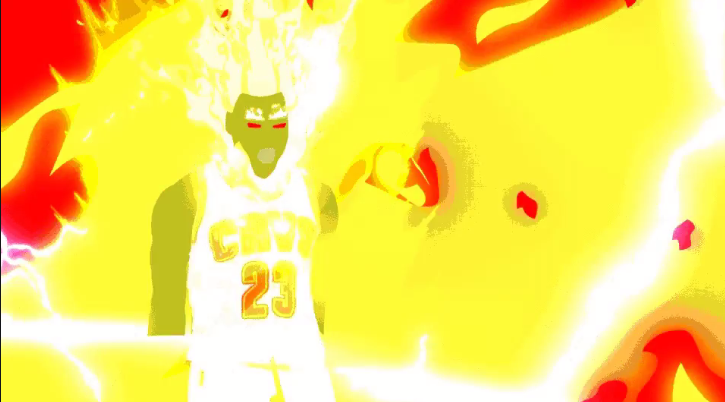 LeBron James goes Super Saiyan