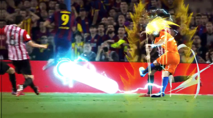Lionel Messi goes Super Saiyan